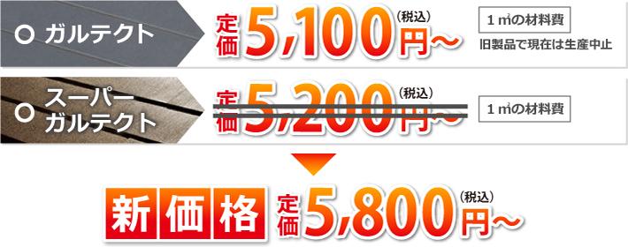 カーパーガルテクト新価格5800円