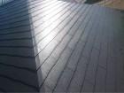 スレート屋根上塗り後