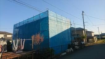 駒ヶ根赤穂屋根外壁足場1