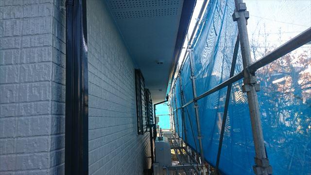 駒ヶ根市外壁ベランダ中塗り1