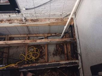 長野県ベランダ雨漏れ火災保険対応8