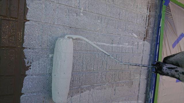 駒ヶ根市赤穂外壁ベランダ下塗り5