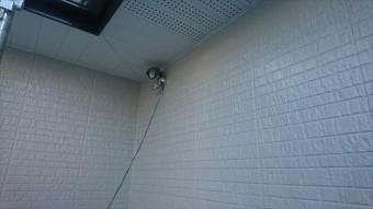 駒ヶ根市外壁ベランダ中塗り2