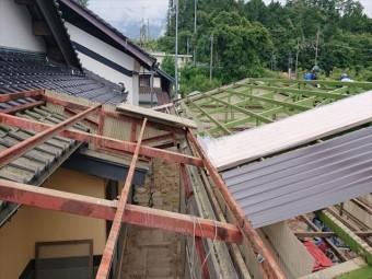 長野県飯島町ハウス屋根解体2