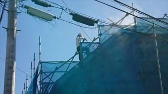 松本市三井屋根洗浄5
