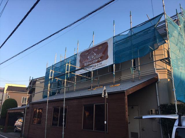 松本市三井屋根塗装下塗り1