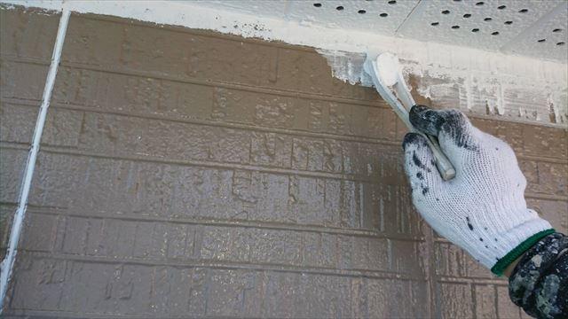 駒ヶ根市赤穂外壁ベランダ下塗り1