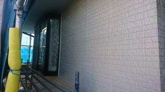 駒ヶ根市外壁ベランダ中塗り3
