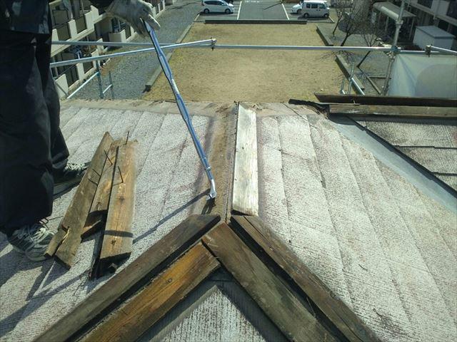 塩尻市外壁塗装屋根カバー屋根役物外し2