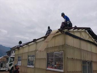 長野県飯島町ハウス屋根解体3