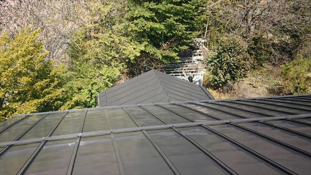 長野県宮田村トタン屋根塗装完成4