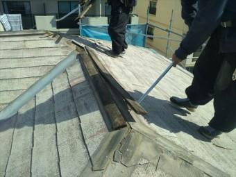 塩尻市外壁塗装屋根カバー屋根役物外し3
