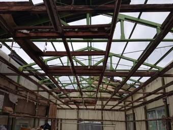 長野県飯島町ハウス屋根解体4