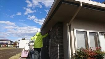 駒ヶ根市赤穂ALC外壁洗浄1