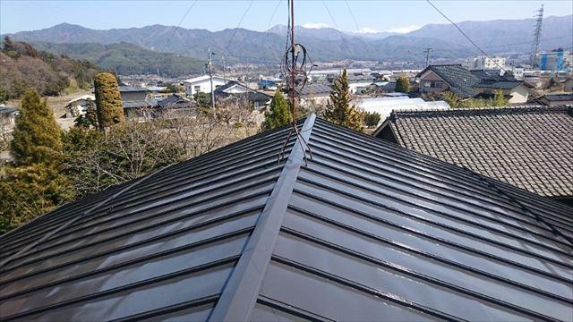 長野県宮田村トタン屋根塗装完成5