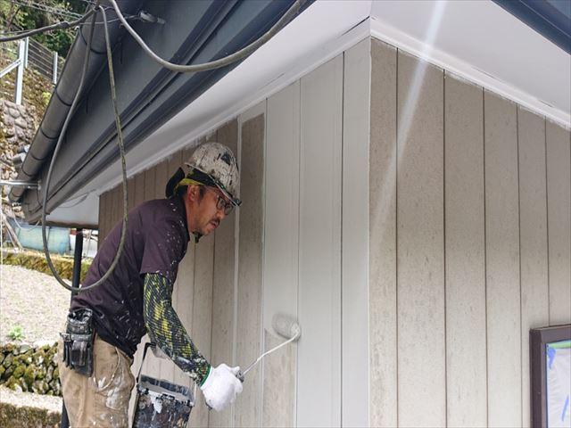 飯田市上村外壁下塗りシャネツトップワン1
