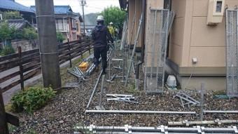 長野県下條村外壁塗装サンワ足場2
