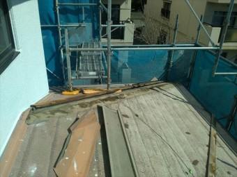 塩尻市外壁塗装屋根カバー屋根役物外し5
