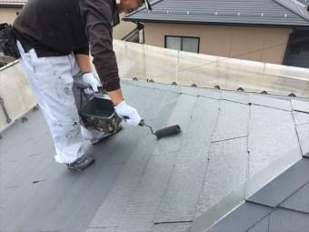 スレート屋根上塗り