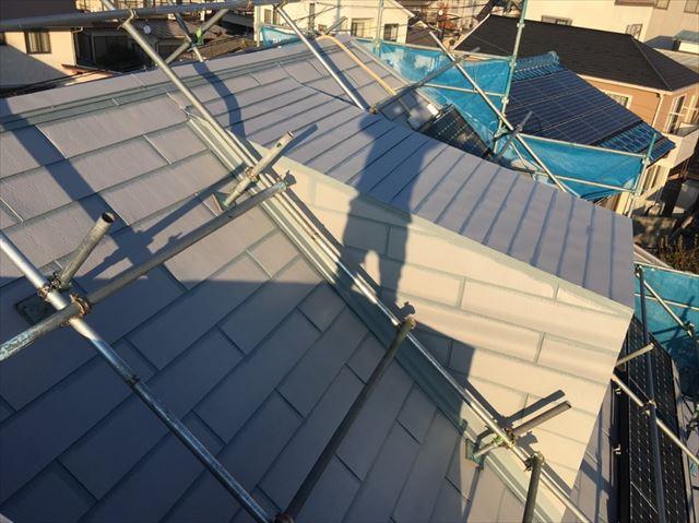 松本市三井屋根塗装下塗り2