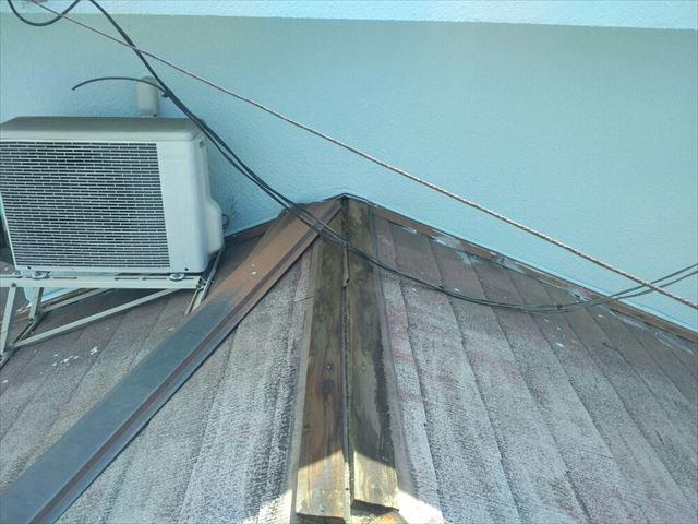 塩尻市外壁塗装屋根カバー屋根役物外し1