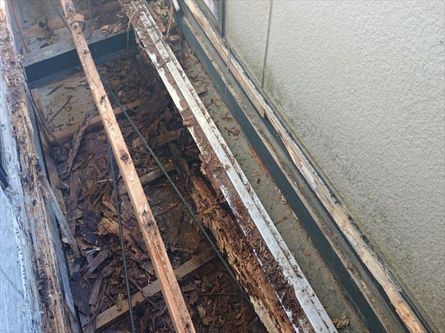 長野県ベランダ雨漏れ火災保険対応6