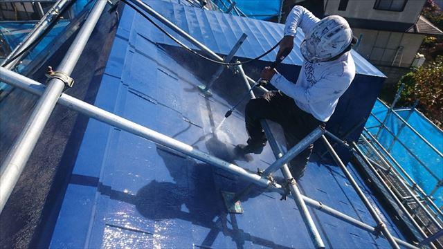 松本市三井屋根洗浄6