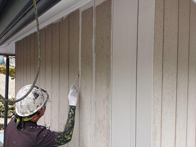 飯田市上村外壁下塗りシャネツトップワン4