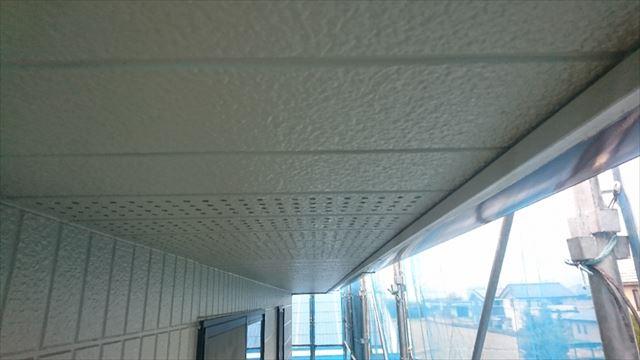 駒ヶ根市外壁塗装上塗り4