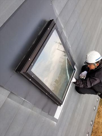 天窓板金工事です