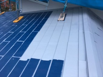 松本市三井屋根塗装下塗り4