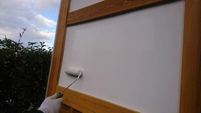 駒ヶ根市腰壁上塗り2