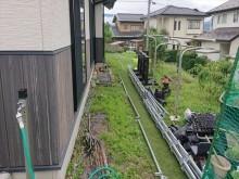 長野県駒ヶ根市外壁屋根塗装仮設足場8