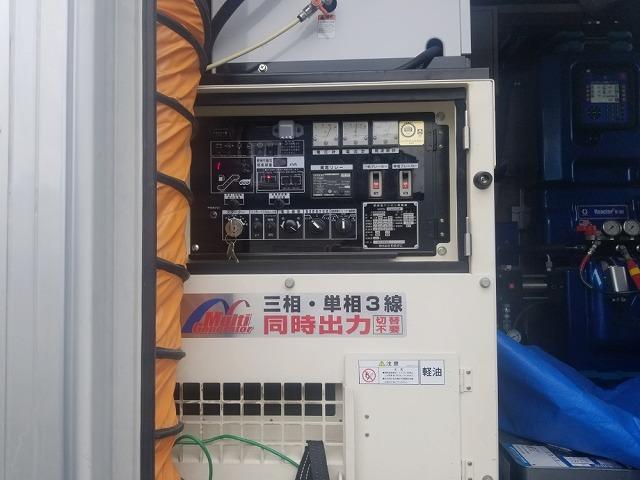 超速ウレタン防水の車載システムです 発電機です