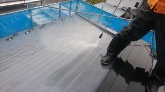 駒ヶ根赤穂屋根外壁洗浄2