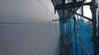 松本市外壁塗装ALC 上塗り3