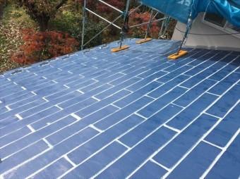 松本市三井屋根塗装下塗り6