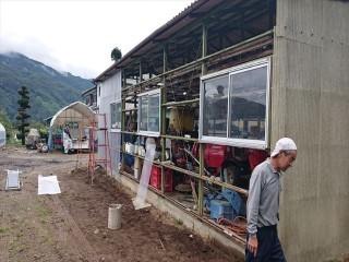 長野県飯島町農業用ポリカ外壁交換2