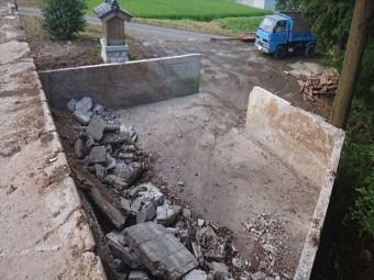 長野県飯島町牛舎解体後半6