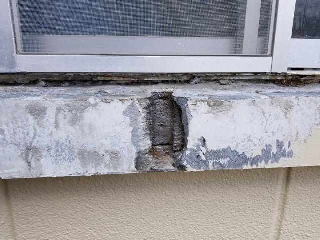 旧塗膜 モルタルを捲りました。