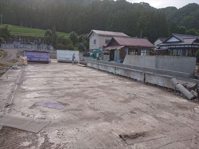 長野県飯島町スレート牛舎解体後半2