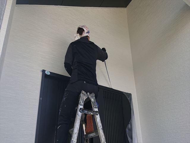 長野県駒ヶ根市外壁屋根塗装上塗り3