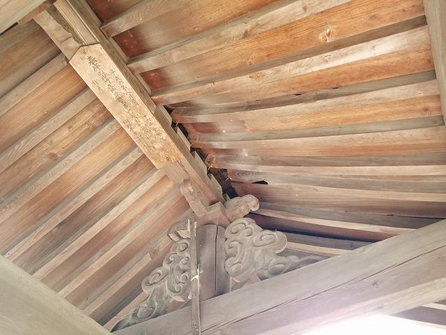 円福寺山門です 垂木が浮いてます