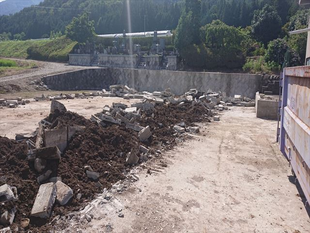 長野県飯島町スレート牛舎解体後半4