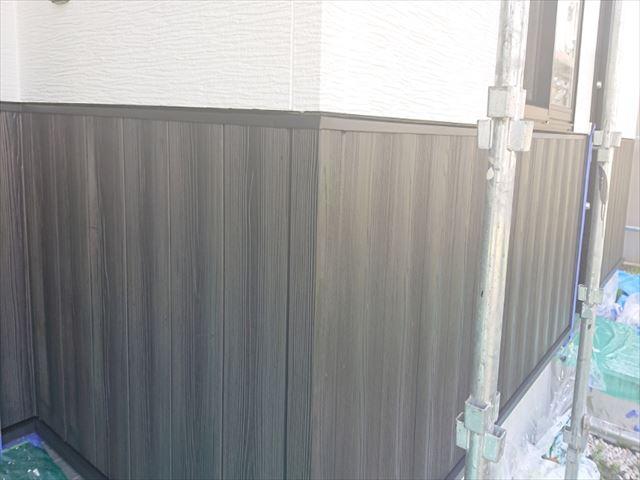 長野県駒ヶ根市外壁屋根塗装上塗り4
