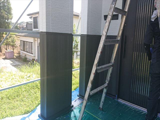 長野県駒ヶ根市外壁屋根塗装上塗り5