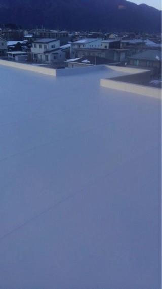 機械式塩ビシート防水工事完成しました!