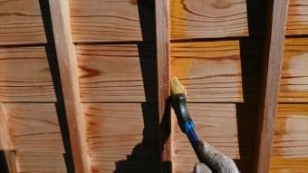 駒ヶ根市腰壁下塗り2