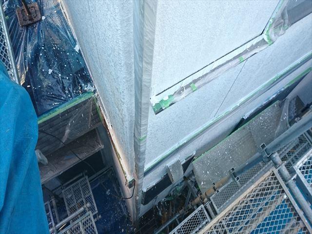 喬木村屋根外壁塗装養生4