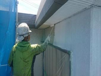 喬木村外壁下塗り2